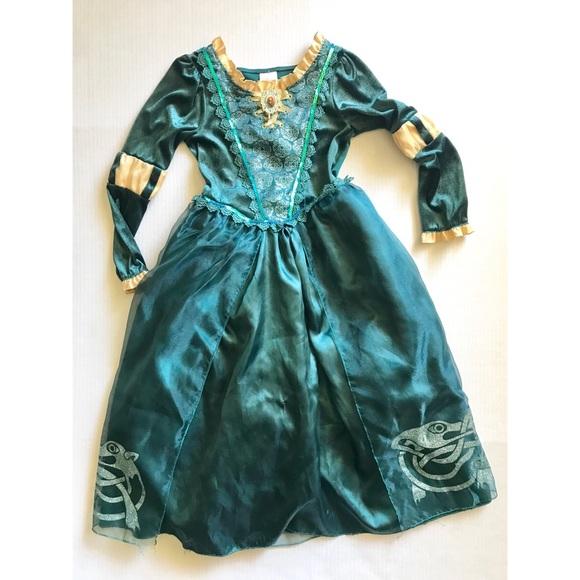 Disney Costumes Brave Merida Halloween Costume Dress 78 Poshmark